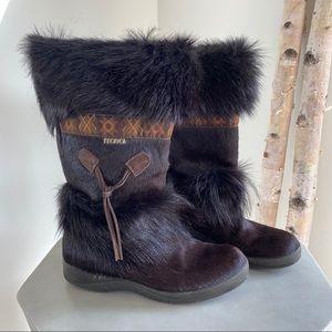 TECNICA Apres Ski Goat & Calf Fur Boot s10